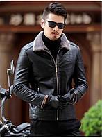 Куртка зимняя с натуральной кожи на овчине молодежная.