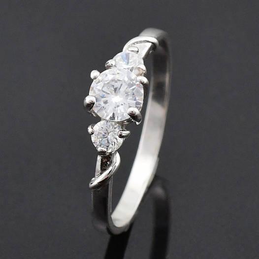 """Серебряное кольцо """"Авенси"""", размер 17.5, вес серебра 1.70 г"""