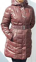 Женская зимняя куртка-полупальто  Dengermeng
