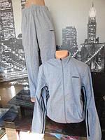 Мужской спортивный костюм Adidas серый