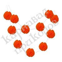 Гирлянда праздничная Помпоны (оранжевый 0011), фото 1