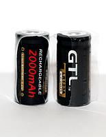 Аккумулятор CR123A, CR123, LR123A, 16340 GTL 2000 mAh (цена за 1 штуку)