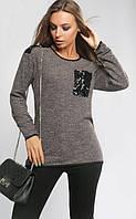Джемпер женский большого размера Дороти 833, (2 цв) легкий женский свитер большого размера