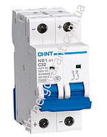 Автоматический выключатель CHINT NB1-63  16А  2P 6kA