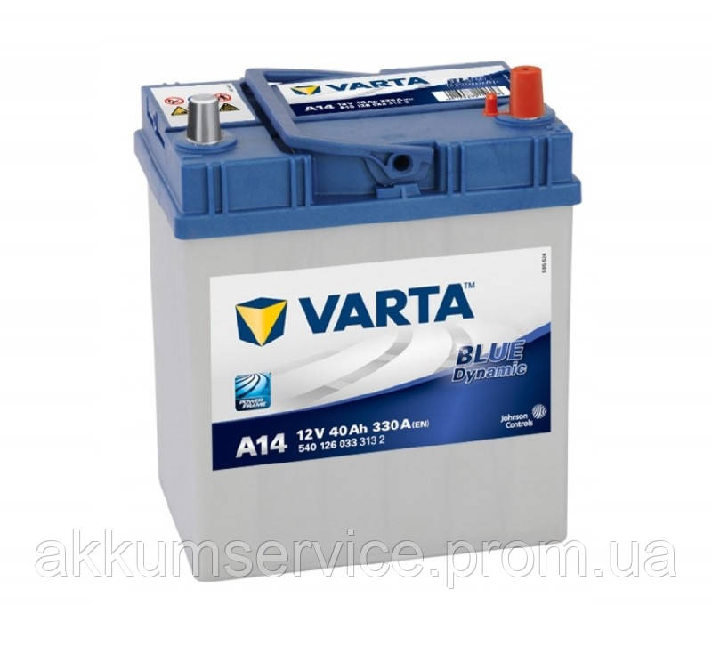 Аккумулятор автомобильный VARTA BLUE DYNAMIC Asia 40AH L+ 330A (A15)
