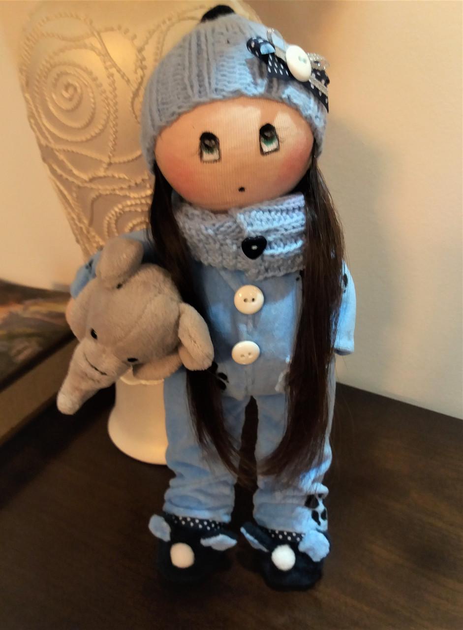 Авторская работа куколка в голубом