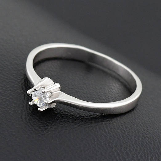 "Серебряное кольцо ""Бьюти"", размер 15, вес серебра 1.04 г"