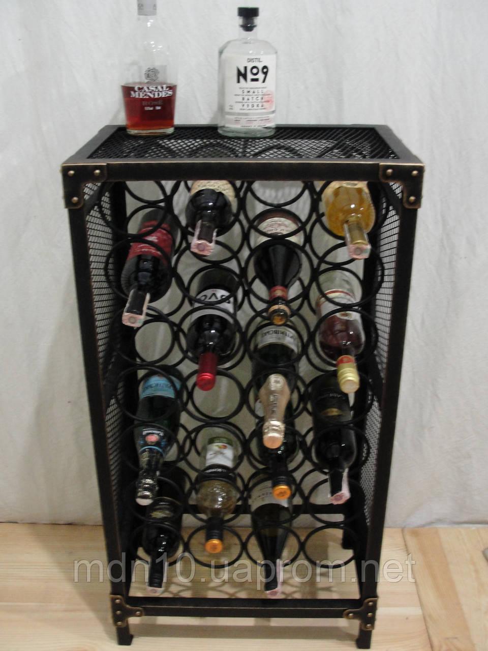 Стелаж для вина Industrial, 28 бут. (арт. 108)
