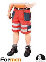 Шорты рабочие сигнальные красные  мужские FORMEN Leber&Hollman Польша (спецодежда летняя) LH-FMNX-TS CGS