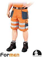 Шорты рабочие сигнальные оранжевые мужские FORMEN Leber&Hollman Польша (спецодежда летняя) LH-FMNX-TS PGS