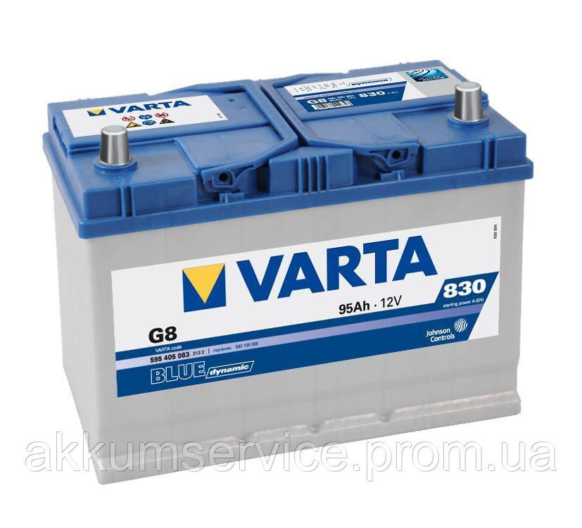 Аккумулятор автомобильный VARTA BLUE DYNAMIC Asia 95AH R+ 830A (G7)