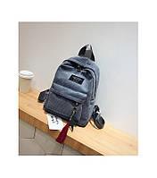 Женский рюкзак серый из ткани вельветовый опт