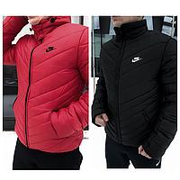 Зимняя мужская куртка Найк | Теплая зимняя куртка на пуху