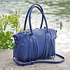 Женская кожаная сумка Bordo синяя, фото 2