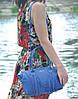 Женская кожаная сумка Bordo синяя, фото 4