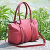 Женская кожаная сумка Bordo красная, фото 2