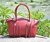 Женская кожаная сумка Bordo красная, фото 3