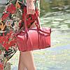 Женская кожаная сумка Bordo красная, фото 4