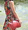 Женская кожаная сумка Bordo красная, фото 5