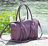 Женская кожаная сумка BORDO лиловая, фото 2