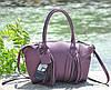Женская кожаная сумка BORDO лиловая, фото 3