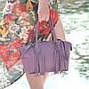 Женская кожаная сумка BORDO лиловая, фото 4