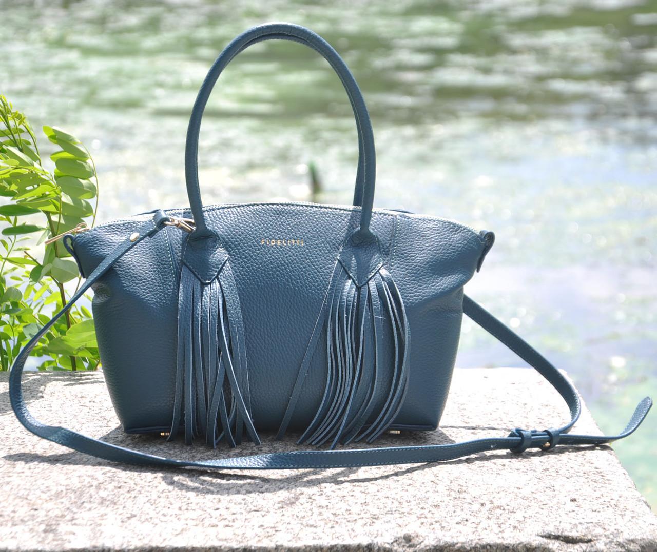 Женская кожаная сумка Bordo морская волна