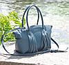 Женская кожаная сумка Bordo морская волна, фото 2