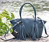 Женская кожаная сумка Bordo морская волна, фото 3