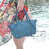 Женская кожаная сумка Bordo морская волна, фото 4