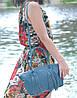 Женская кожаная сумка Bordo морская волна, фото 5