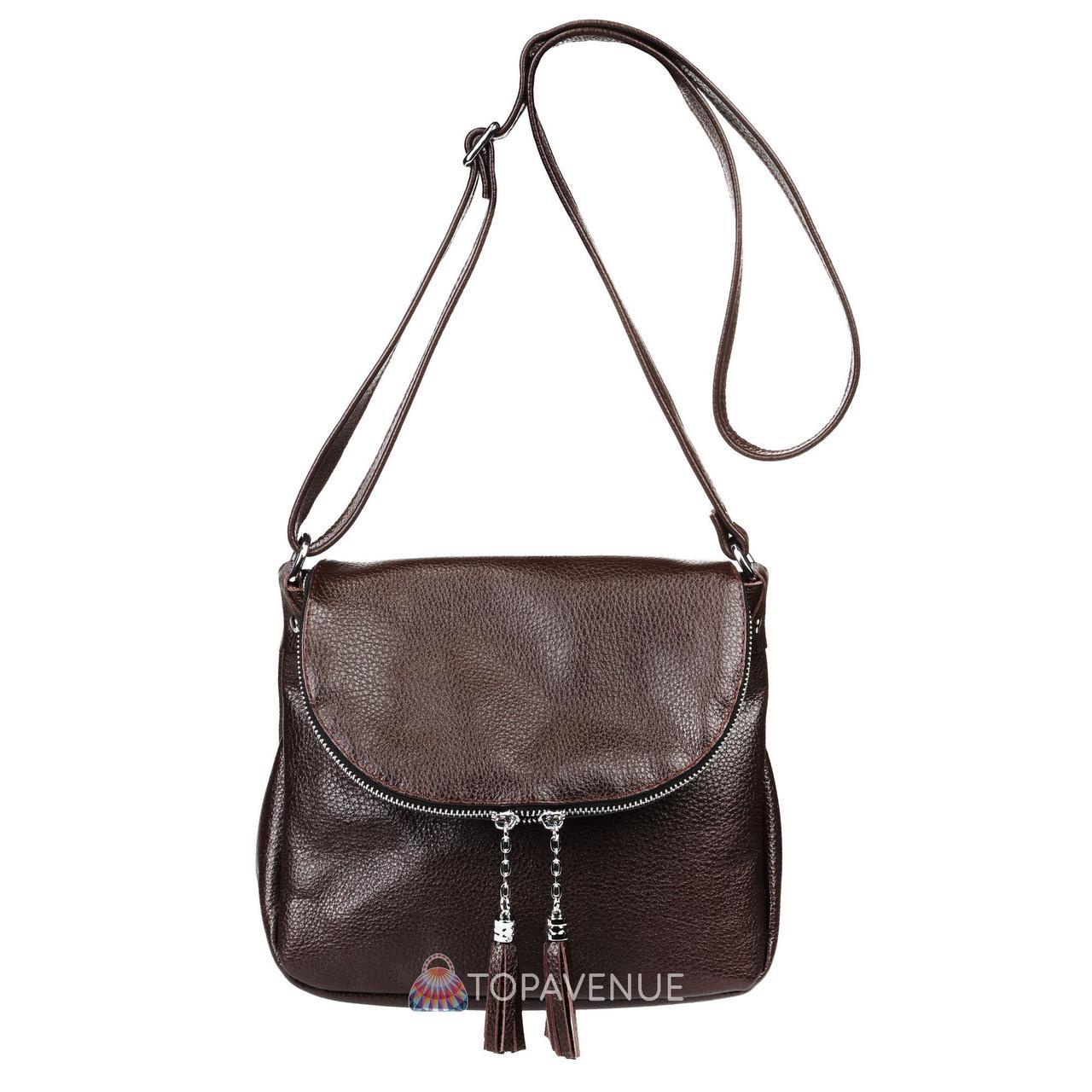 Женская кожаная сумка Марсель шоколадная