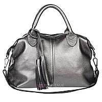 Кожаная женская сумка Барселона никель, фото 1