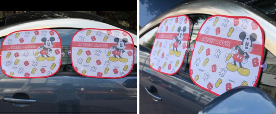 Защитные шторки в автомобиль Mickey Mouse 2шт. Оптом