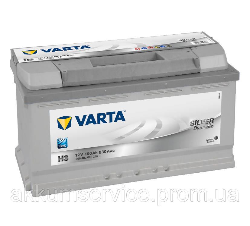 Аккумулятор автомобильный VARTA SILVER DYNAMIC100AH R+ 830A (H3)