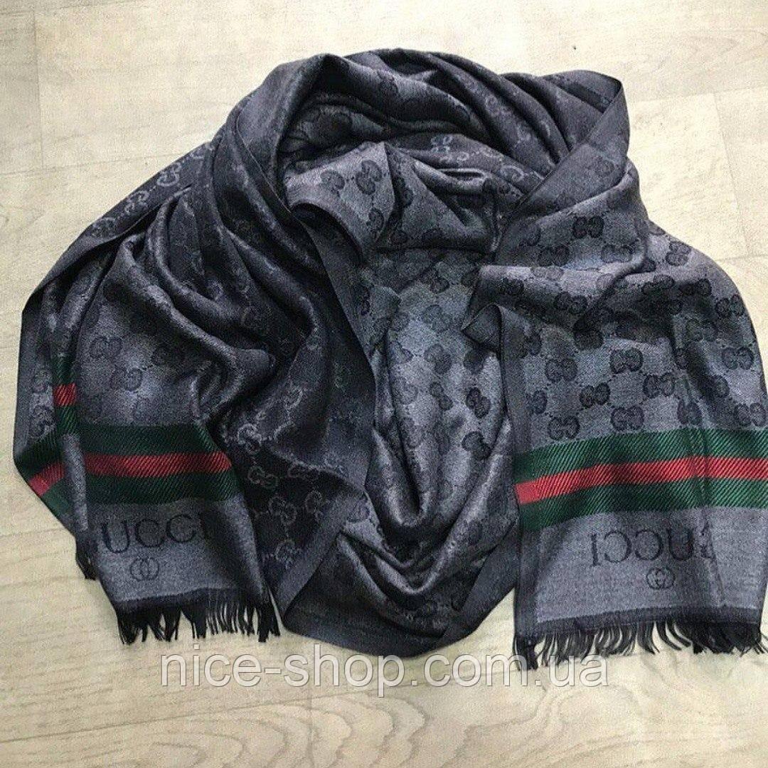 Палантин Gucci темно-серый