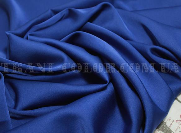 Ткань шелк армани синий электрик, фото 2