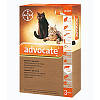 Капли на холку для котов от блох и глистов Bayer Advocat до 4 кг (Байер Адвокат 1 пипетка)