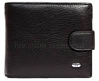 Черное матовое мужское портмоне на застежке