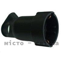 Розетка 2К+З с подвижным кольцом 16А черный 50195 Legrand Легранд