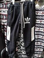 Детские спортивные штаны на флисе Adidas черные