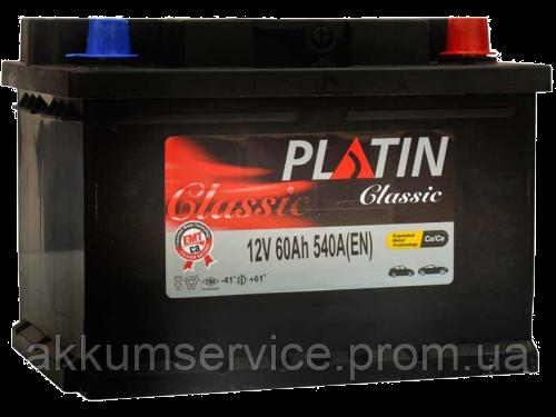 Аккумулятор автомобильный Platin Classic 60AH L+ 540A