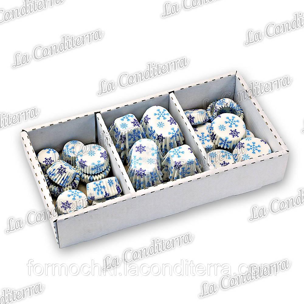 """Новогодние наборы формочек для конфет """"Снегопад"""""""