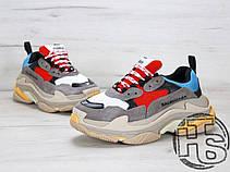 Жіночі кросівки Balenciaga Triple S Trainers Gray/Red/Blue 483513W06E34365, фото 3