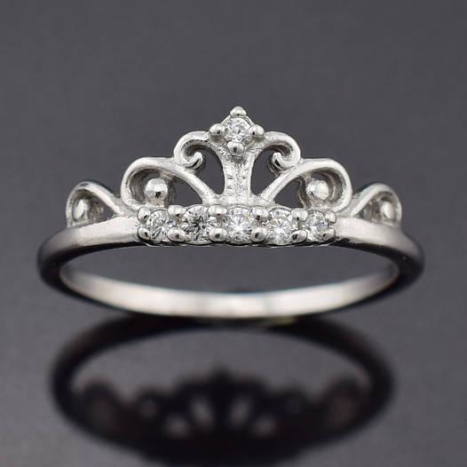 """Серебряное кольцо """"Диадема"""", размер 19, вес серебра 1.48 г"""