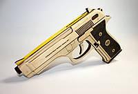 """Деревянные 3D конструктор пистолет """"Беретта М-3"""" (натуральный размер)"""
