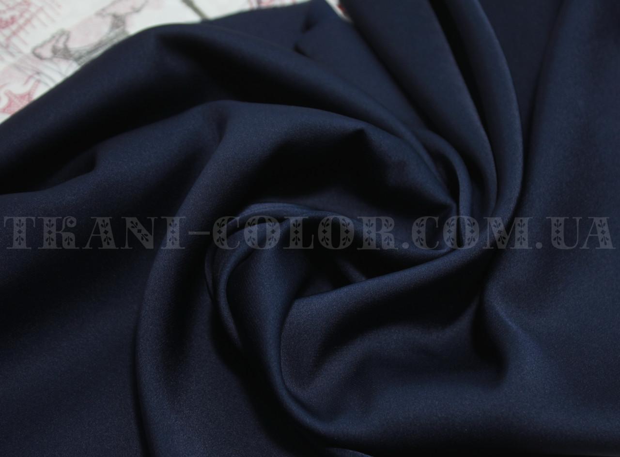 Ткань шелк армани темно-синий