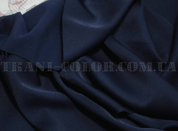 Ткань шелк армани темно-синий, фото 2