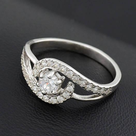 "Серебряное кольцо ""Ирма"", размер 18, вес серебра 2.14 г"