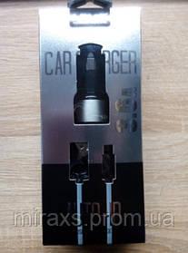 Автомобильная зарядка 3.6А на 2 USB+кабель. LDNIO